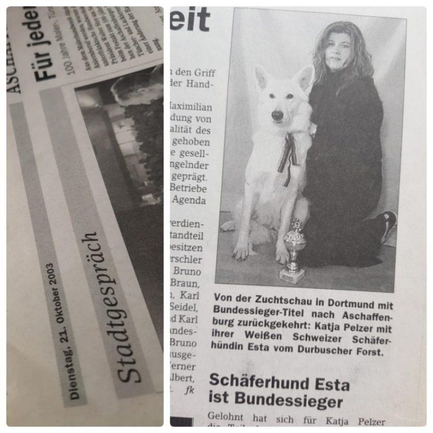 German Dream's Weiße Schweizer Schäferhunde - Esta Durbuscher Forst